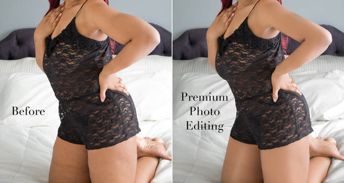 How to edit plus-size boudoir photos