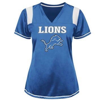 Lions Football Jersey For Boudoir Photo Shoot