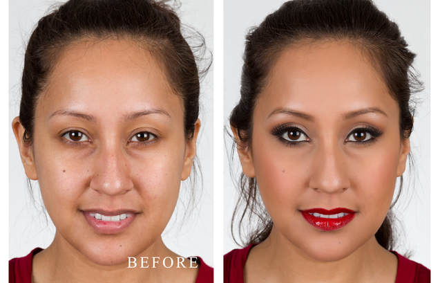 Smokey Eye Makeup Tutorial Before And After Photo