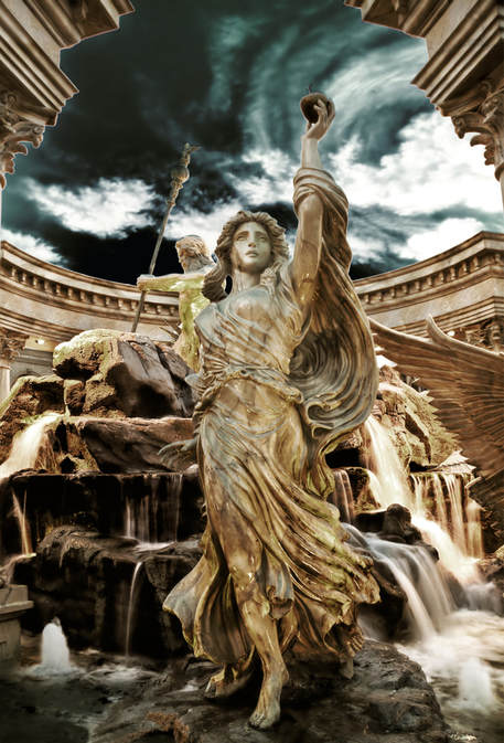 Aphrodite Greek Goddess of Love Statue located in the Forum Shops at Caesars Palace Hotel and Casino in Las Vegas