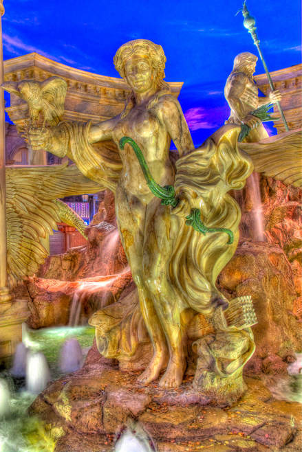 Artemis Greek Goddess of Hunting Statue located at Caesars Palace Las Vegas Hotel and Casino in Las Vegas