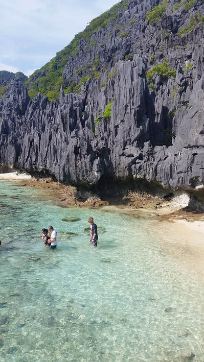 Rock formation on island in El Nido