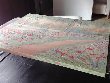 Original painting in the boudoir studio makeover
