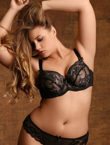 Recommended lingerie for a boudoir photo shoot. Plus-Size Jacqueline Lace Bra