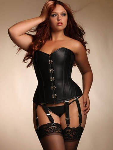 Recommended lingerie for a boudoir photo shoot. Angelina Leather Corset